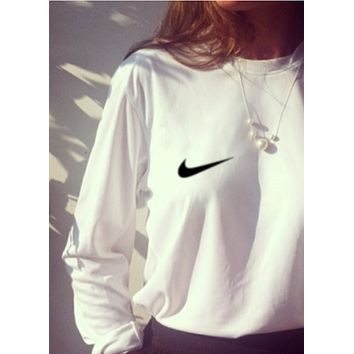 """Nike"" Women Fashion Top Sweater Pullover Sweatshirt"