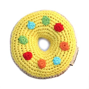 Cheengoo - Donut Rattle - Yellow
