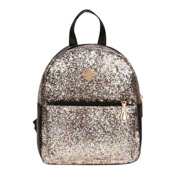 New Fashion Womens Backpacks Cute Girls Sequins Backpack Paillette Leather Backpack Ladies School Bags For Teenagers Girls