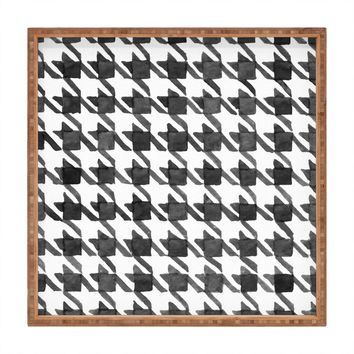 Social Proper Houndstooth BW Square Tray