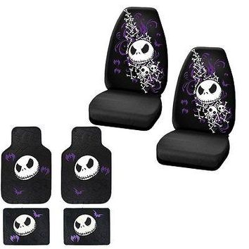 Licensed Official NEW 6PC SET NIGHTMARE BEFORE CHRISTMAS CAR TURCK FRONT FLOOR MATS & SEAT COVERS