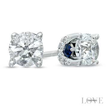 Vera Wang LOVE Collection 3/4 CT. T.W. Diamond Stud Earrings in 14K White Gold