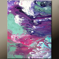 Abstract Art Painting 11x14 Original Contemporary Paintings on Canvas by Destiny Womack - dWo - In The Breeze