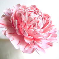 Coral Pink Peony Wedding Cake Topper Flower Cake Topper Cake Design Peony Cake Decor handmade Clay Peony Cake Topper