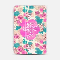 Cute Pink Turquoise Floral Pattern Illustration iPad Mini case by Girly Road | Casetify