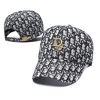 Dior Fashion Embroidery Adjustable Travel Hat Sport Cap