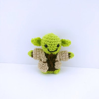 Hand Made Amigurumi Crochet Cute Soft Toy Yoda Doll - Perfect Baby Toy