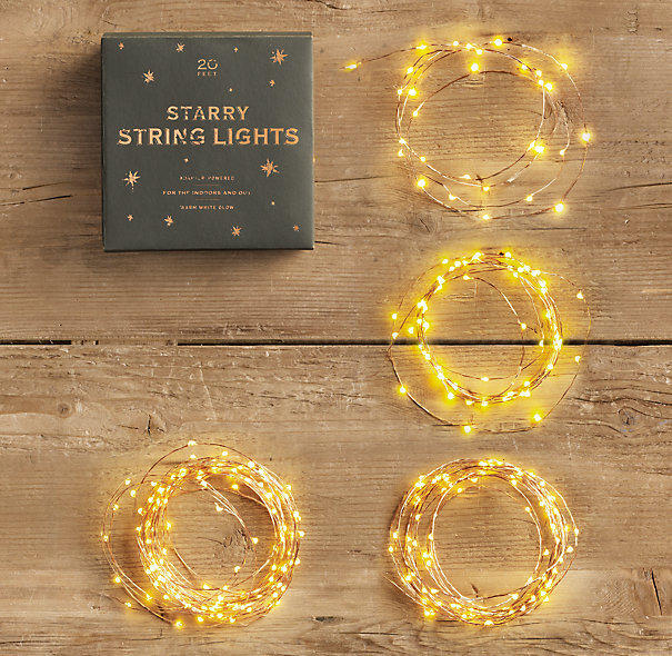 String Lights Restoration Hardware : Starry String Lights from Restoration Hardware Home.