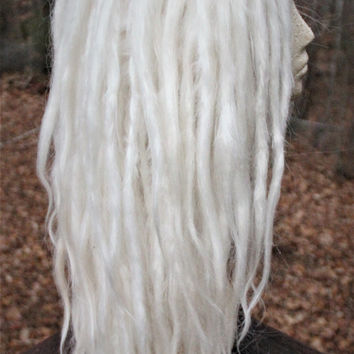 White Blonde Lace Front Synthetic Dreadlock Wig * Platinum Blond Dreadlocks * Cosplay * Wilding * Festival * Rave * LARP *