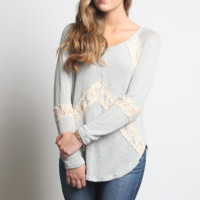 Blu Pepper Knit and Lace Sweater