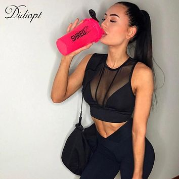 GAGALOOK 2018 Sports Bra Yoga Bra Womens Running Vest Mesh Corsets Gym Mesh Sports Vest Womens Shorts Top Bodybuilding T1670