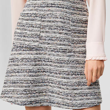Boucle Pocket Skirt | LOFT