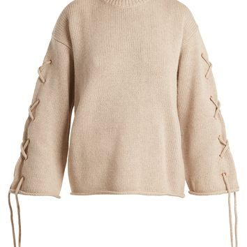 Lace-up rolled-edge knit sweater | See By Chloé | MATCHESFASHION.COM US