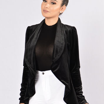 Broken Heart Blazer - Black