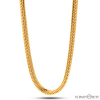 8mm Thick Gold Herringbone Chain