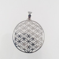 Sacred Geometry, Sterling Silver Flower of Life Pendant
