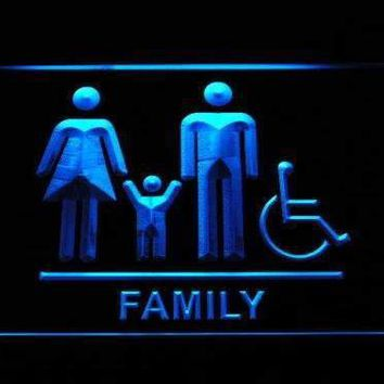 Family and Handicap Restroom Neon Sign (LED)