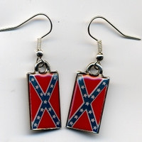 Confederate Battle Flag Earrings