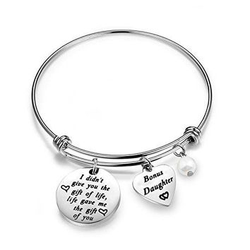 Zuo Bao Stepdaughter Gifts Daughter In Law Bracelet I Didnt Give You The Gift of Life Life Gave Me The Gift of You Step Daughter Gifts From Stepmom