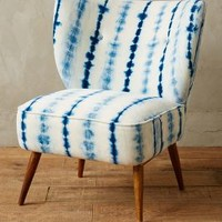 Moresque Chair by Anthropologie in Blue Motif Size: All Furniture