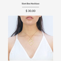 Slant Box Necklace