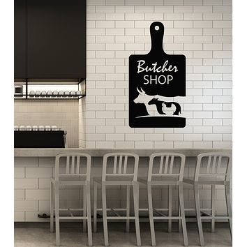 Vinyl Wall Decal Butcher Shop Cutting Board Meat Decoration Stickers Mural (ig6029)