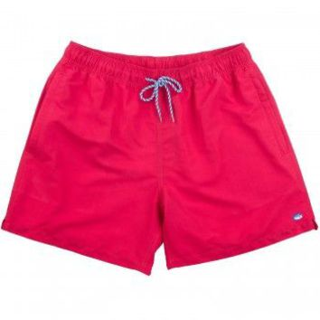 Classic Swim Trunks in Channel Marker Red by Southern Tide