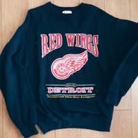 Vintage detroit redwings NHL cotton blend sweater size large