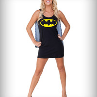 Batman Sleep Caped Tank Dress