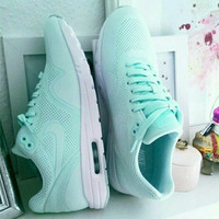"""Nike"" Women Mint Green Sneakers Sport Shoes"