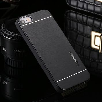 Ultra Thin Motomo Aluminum Brush Hard Metal Case for iPhone 4 4S 5 5S SE 6 6S 7 Plus Case Cover Protective Mobile Phone Cases
