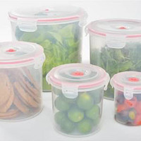 11-pcs Vacuum Food Storage Containers, Round