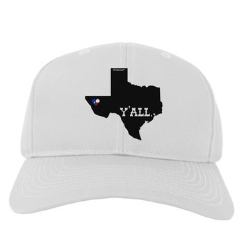 Texas State Y'all Design with Flag Heart Adult Baseball Cap Hat by TooLoud