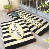 Awning Stripe Double Door Welcome Mat - MacKenzie-Childs