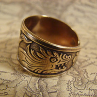 Game Of Thrones - Dragon Ring - Antiqued Brass, Adjustable