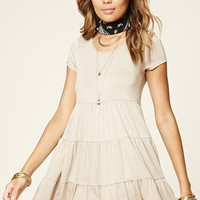 Tiered Mini T-Shirt Dress