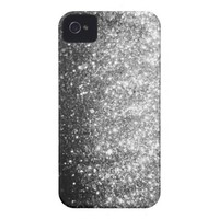 Silver GLitter Sparkle iPhone Case Iphone 4 Covers from Zazzle.com