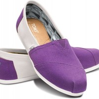 Purple and White Women's Campus Classics | TOMS.com