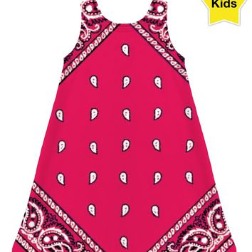 ROCD Hot Pink Bandana Children's Dress
