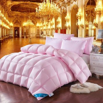 TUTUBIRD Pink Winter Duck/Goose Down Quilt Duvet Comforter Blanket 100% Cotton Cover King Queen Twin Size Free Fast Shipping