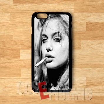 Smoking Angelina Jolie - Fzi for iPhone 6S case, iPhone 5s case, iPhone 6 case, iPhone 4S, Samsung S6 Edge