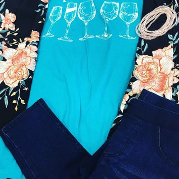 Southern Couture Sip Happens Tee