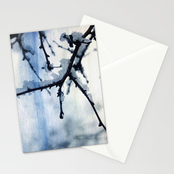 Snow and water Stationery Cards by VanessaGF | Society6