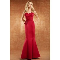 Sweetheart trumpet floor-length evening dress