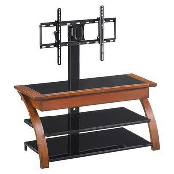 Austen 3-in-1 TV Stand w/Storage Drawer and Tilt-Brown