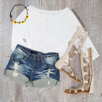 Genius Distressed Shorts