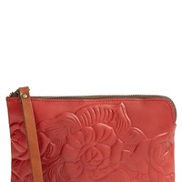 Patricia Nash 'Tooled Rose - Cassini' Italian Leather Wristlet