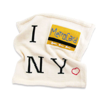 Organic Cotton Metrocard Lovey or Baby Toy Security Blanket