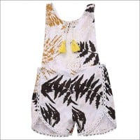 Summer Newborn Baby Girls Clothes  Backless Romper