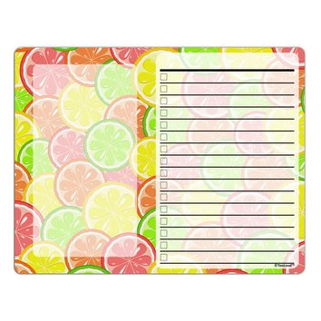 Colorful Citrus Fruits To Do Shopping List Dry Erase Board All Over Print